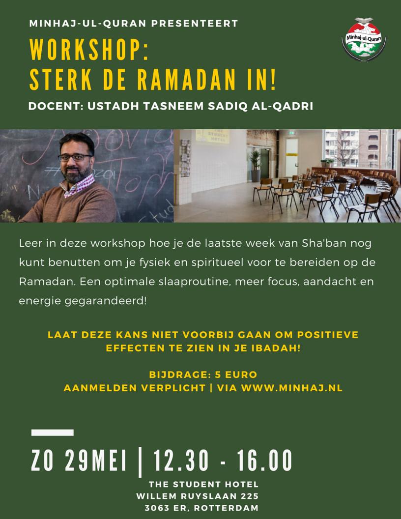 Workshop: Sterk de Ramadan | Rotterdam-West, zo 29 mei