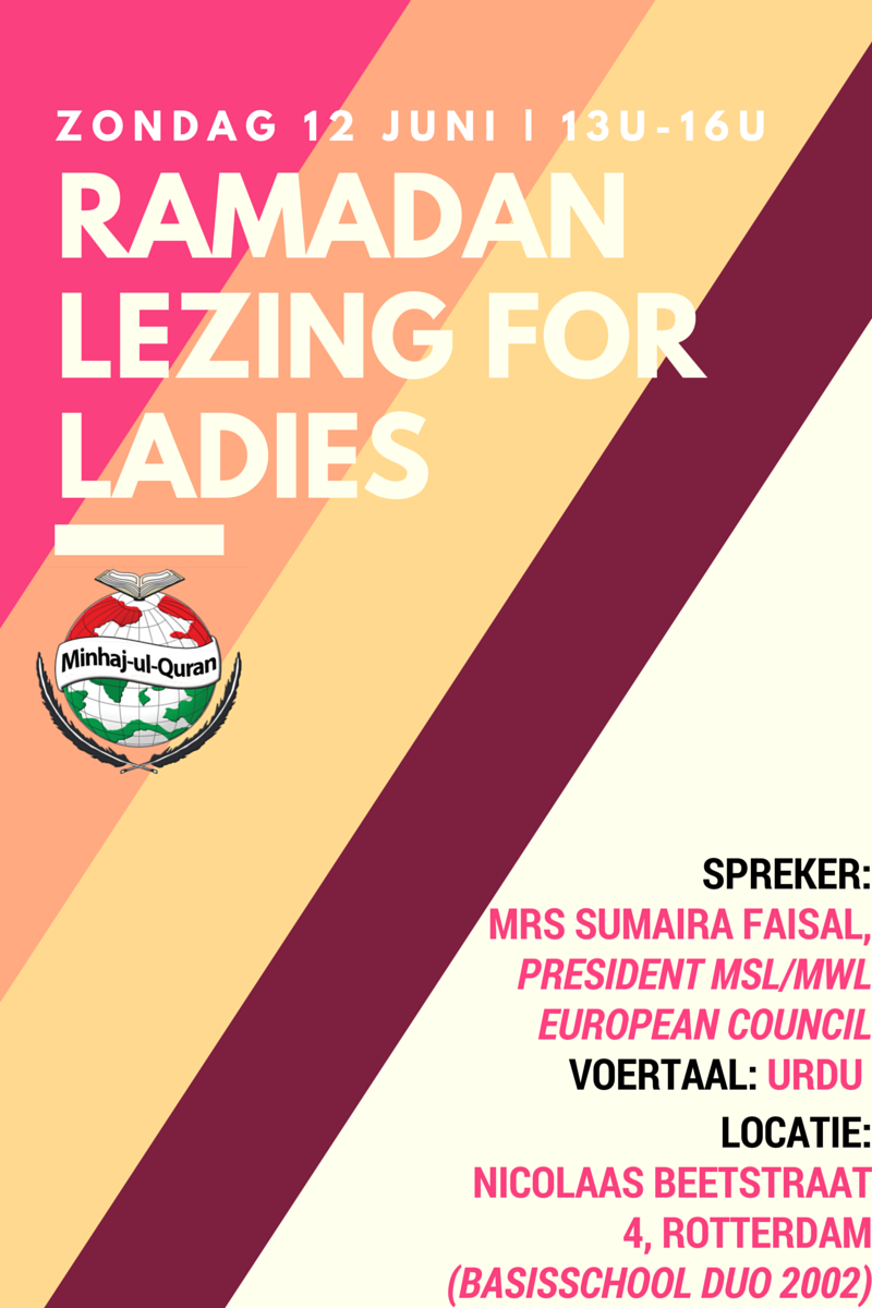 Ramadan Lezing For Ladies | Rotterdam-West, zo 12 juni