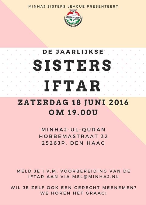 Jaarlijkse Sisters Iftar | Den Haag, za 18 juni