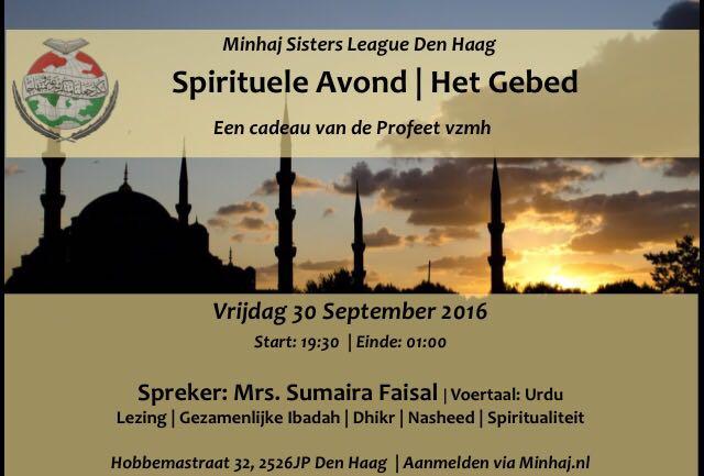 (geannuleerd) Spirituele avond: het gebed || alleen voor vrouwen || 30 september
